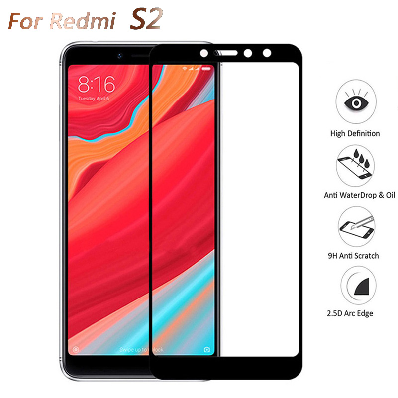 Safety Protective Glass For Xiaomi Redmi S2 Tempered Glas Film Full Cover Screen Protector On Ksiomi Xiami Xiomi Redme S2 2s