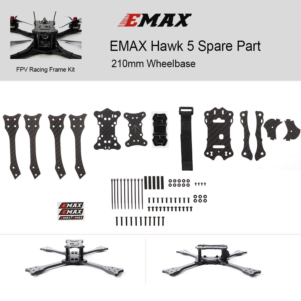 210mm EMAX Drome bricolage cadre Kit Hawk 5 pièce de rechange empattement en Fiber de carbone FPV course Drone bricolage cadre Kit