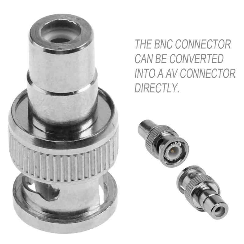 1 sztuk BNC Q9 męski na RCA AV kobiet kabel koncentryczny złącze AV srebrny Adapter lotosu konwersji wideo głowy dla kamery bezpieczeństwa CCTV