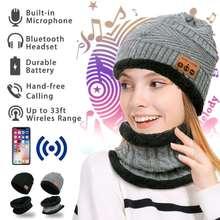 4d491dc1e79 Smart Headbands Sport Cap Wireless bluetooth V4.2 Knitted Plus Winter Keep  Warm Running Hat