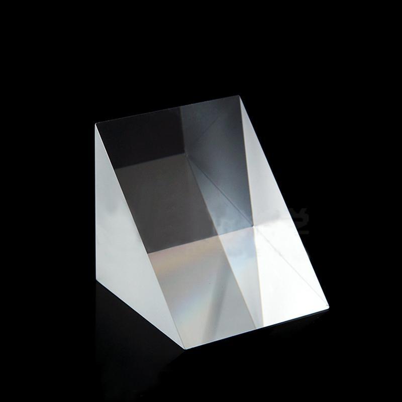 50x50x50mm Optical Glass Triangular Prisms Lsosceles K9 Prism Physics Refractor Light Spectrum50x50x50mm Optical Glass Triangular Prisms Lsosceles K9 Prism Physics Refractor Light Spectrum