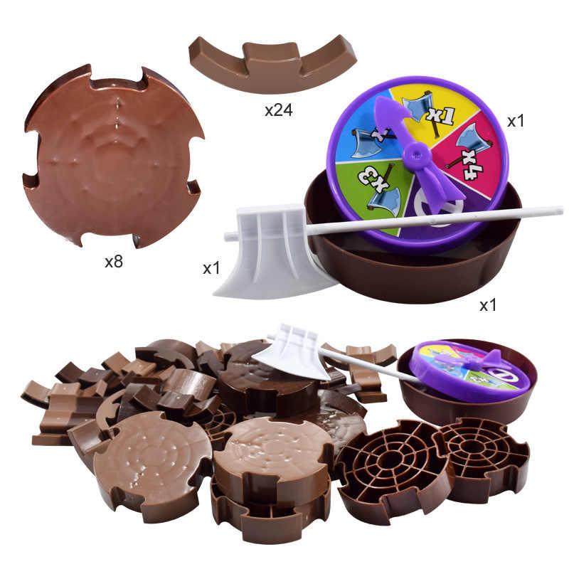 Jogo de tabuleiro Brinquedos Da Árvore De Corte Cortar Árvore de Toranja Lenhador Brinquedo Pai-Filho Interação Cálculo Matemática Brinquedos Duplas