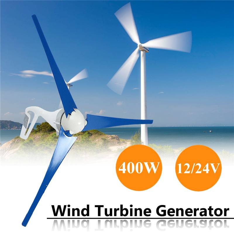 New 12V/24V 400W Wind for Turbine Generator 3 Blades & Charge Controller Wind Generater With Accessories Fit for Home Or Camping