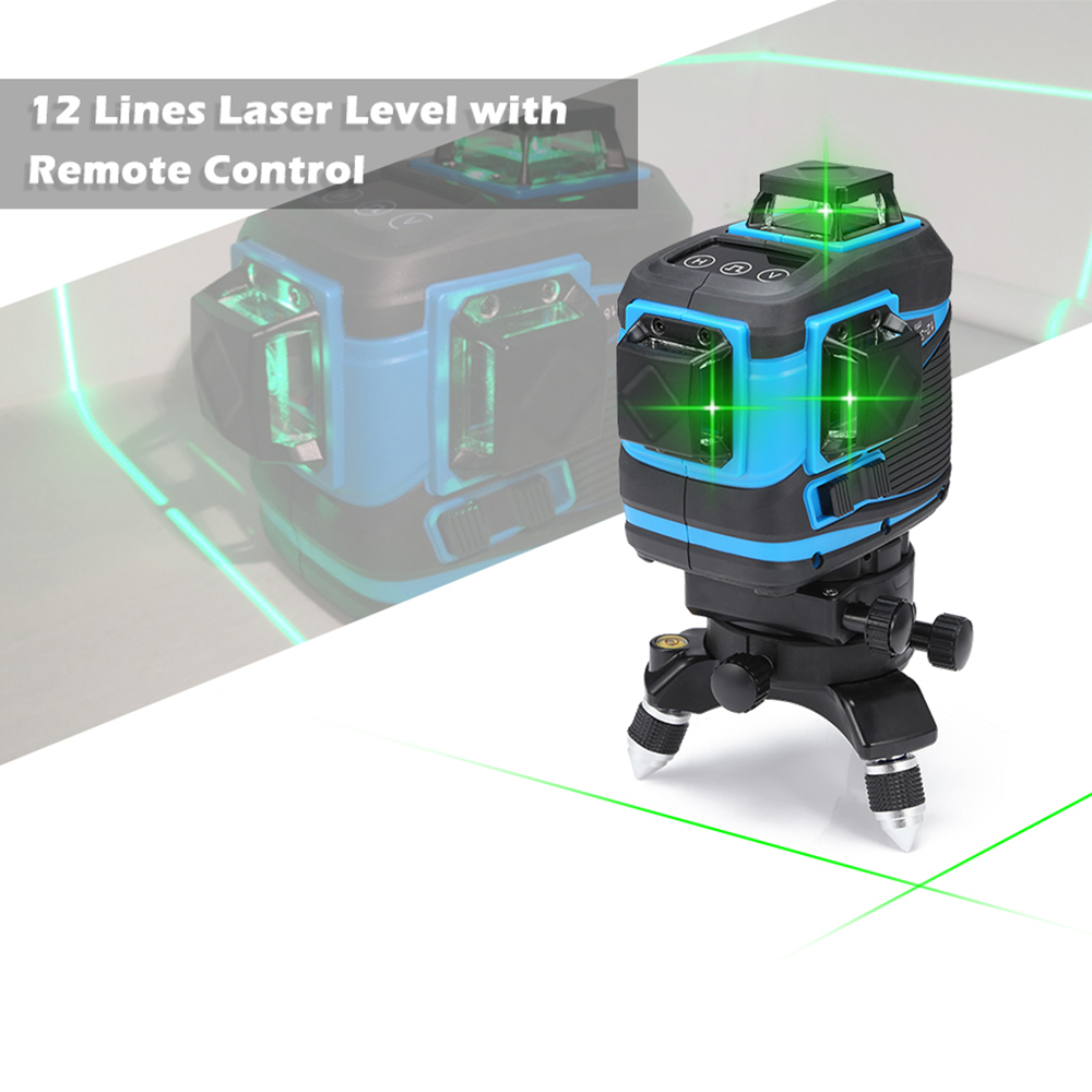 New 12 Lines 3D Level Self Leveling 360 Horizontal And Vertical Cross Super Powerful Green Laser