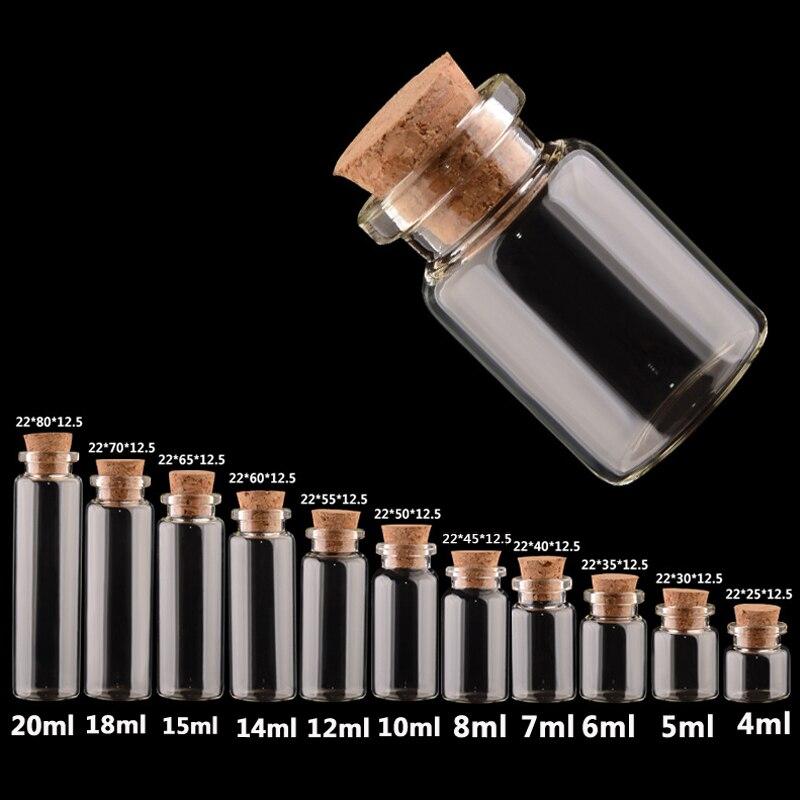 Verkauf 1 Stück Container Dekoration Beliebte Mason Jar Nachricht Fläschchen Billige Flasche Mini Glas Gläser Diy Kleine Kork Stopper Ornamente Wohnkultur