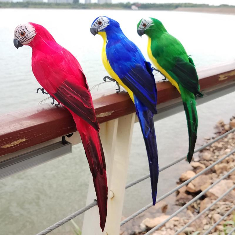 figur // 35cm garten hof ornament simulation vogel feder papagei miniatur tier