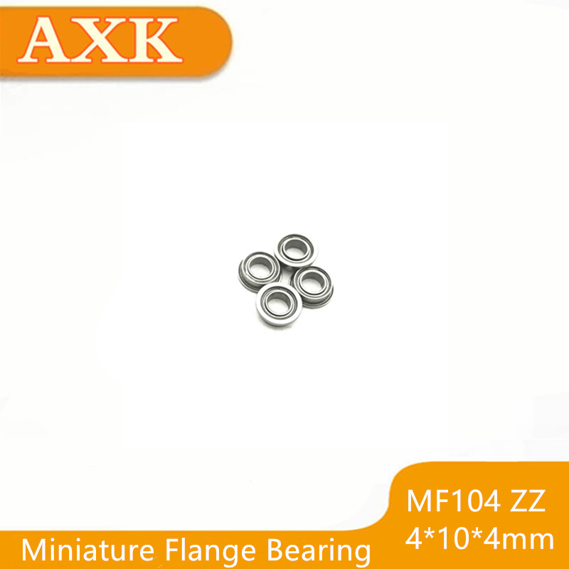 The Cheapest Price 2019 Hot Sale Promotion 10pcs/lot Mf104zz Mf104 Zz 4x10x4mm Abec-3 Miniature Flange Bearing Thin Wall Deep Groove Ball Radial Bearings