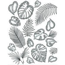 Leaves Transparent Clear Silicone Stamp/Seal for DIY scrapbooking/photo album Decorative clear stamp