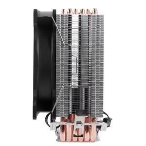 Image 2 - ثلج 4 دبوس وحدة المعالجة المركزية برودة 6 heatpipe واحد/مزدوج مروحة التبريد 12 سنتيمتر مروحة LGA775 1151 115x1366 دعم إنتل AMD
