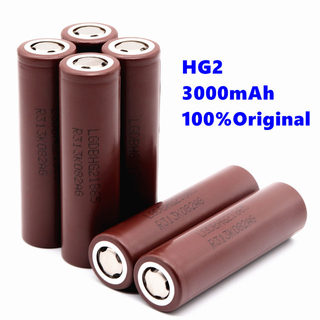 100% original 18650 battery rechargeable battery for LG HG2 18650 3000 mAh lithium battery use electronic cigarette