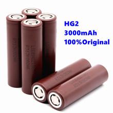 100 oryginalny akumulator 18650 akumulator do HG2 18650 3000 mAh bateria litowa użyj elektronicznego papierosa tanie tanio Okoman Li-ion 2601-2999 mAh Baterie Tylko Pakiet 1 1-10