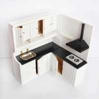 1:12 Scale Wooden Furniture Kitchen Accessories Dollhouse Miniature Pretend Play Model Toy Kids Gifts Life Scene Decoration