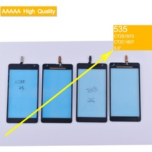 50Pcs/lot For Nokia Microsoft Lumia 535 N535 CT2S1973 CT2C1607 Touch Screen Touch Panel Sensor Digitizer Front Glass Touchscreen new 4 inch digitizer touch screen for microsoft lumia 435 touchscreen panel replacement parts for lumia 532 free shipping