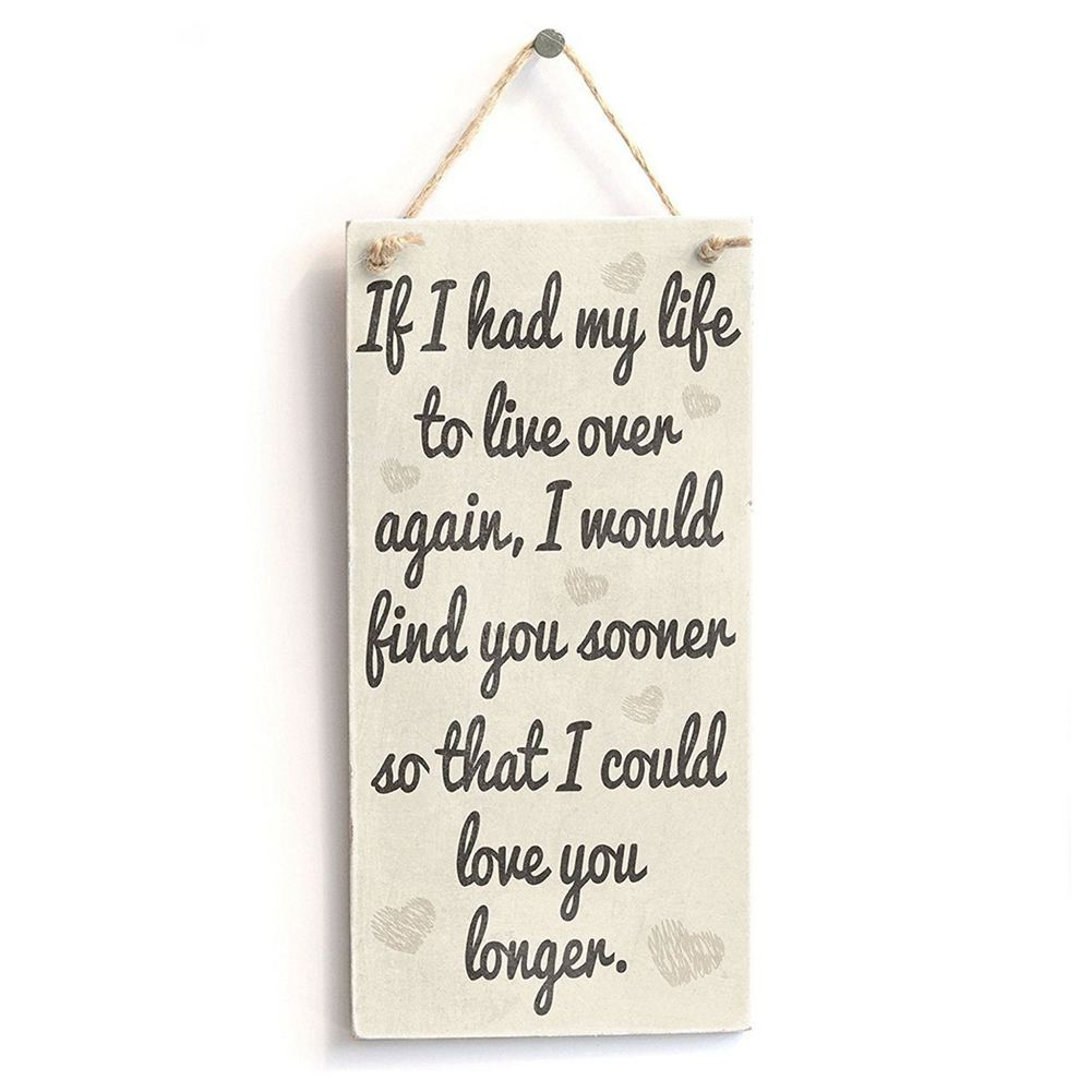 Fashion-Wooden Plaques Wooden Signs If I Have My Life Hanging Sign for Birthday Party image