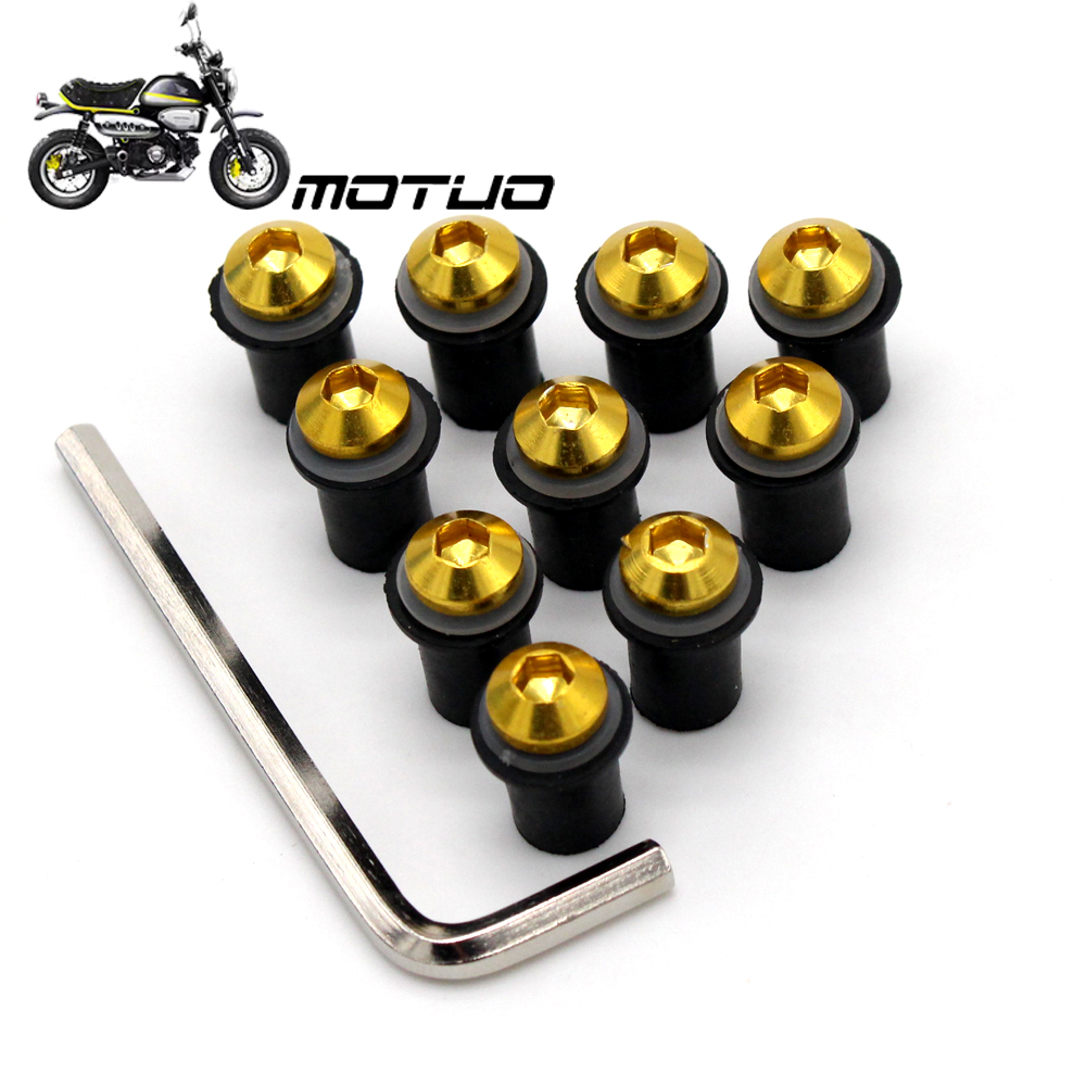 Spike Windscreen Bolts Screws Chrome Suzuki GSXR Honda CBR Kawasaki Ninja Yamaha