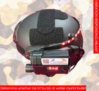 Шлем, реагирующий на вибрацию, точно определяет, попадет ли на него BB Gun/гелевый шар/Водяная Хрустальная пуля/страйкбол пейнтбол