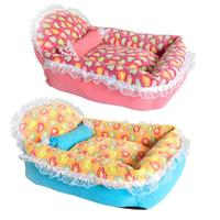 Cute Princess Style Dog Basket Bed Cat Puppy Pet Beds Warm Winter Nest Sofa for Dogs Cat House Bed Mat Cat sofa Supplies