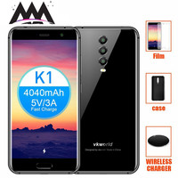 vkworld K1 4G Smartphone Android 8.1 Rear three Cameras 4GB RAM 64GB ROM Octa Core Wireless Charger Face ID 5.2 mobile phone