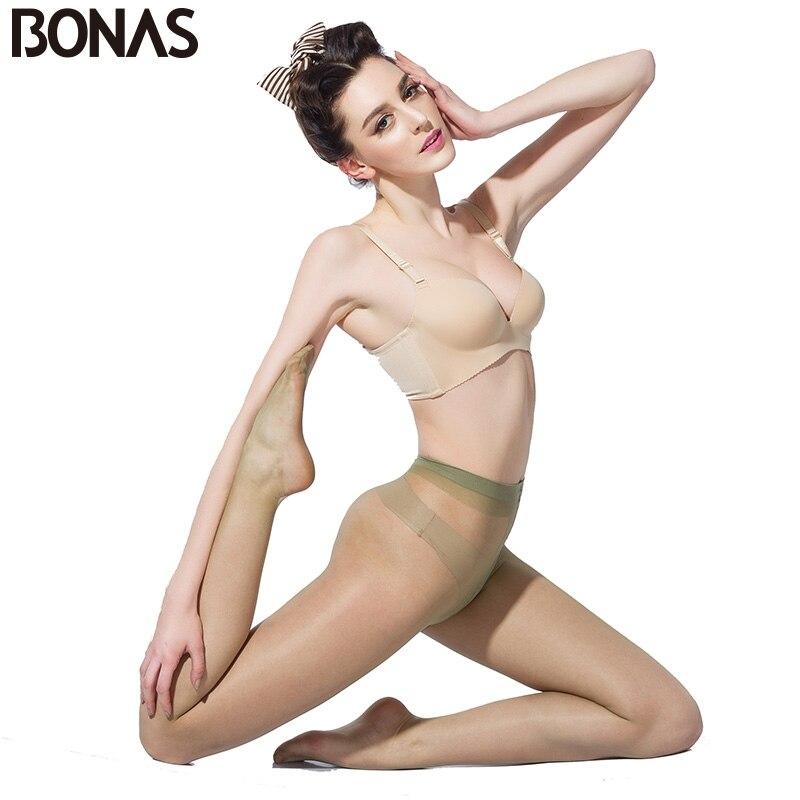 Buy BONAS Transparent Tights Women 15D Nylons Thin Pants Spring T Crotch Sexy Pantyhose Fashion Solid Design Slim Female