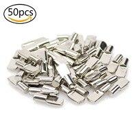 WSFS Heißer 50PCS 5mm Regal Pins  Löffel Form Schrank Möbel Regal Unterstützung Pegs Nickel Überzogene regal pins