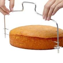 Edelstahl kuchen schicht slicer doppel linie kuchen schneiden maschine keks schneiden maschine utility küche backformen werkzeug