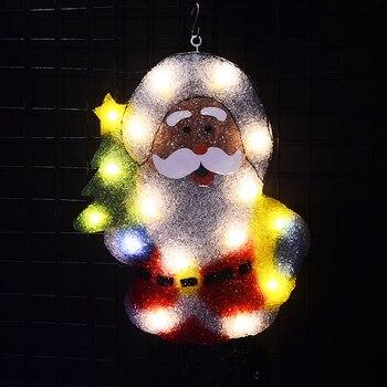 2D xmas Santa clause motif ไฟ-21 นิ้วสูง navidad light bar ตกแต่งปาร์ตี้ไฟ luces navidad 2018