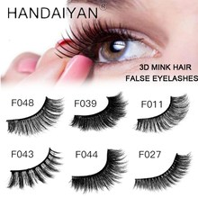 HANDAIYAN 1 Pair 3D Mink False Lashes Natural Long Eyelashes Extension Eye Make Up Beauty Tool Popular