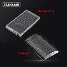 GLAMLASH Transparent eyelash extension crystal glue holder pallet ceramic false lash tile stand Makeup Tool