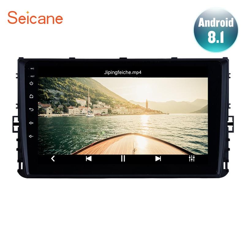 Seicane 2Din Android 10,0 9 дюймов GPS автомобильный радио головное устройство для 2018 Фольксваген универсальное Поло Гольф Passat b5 b6 t4 t5