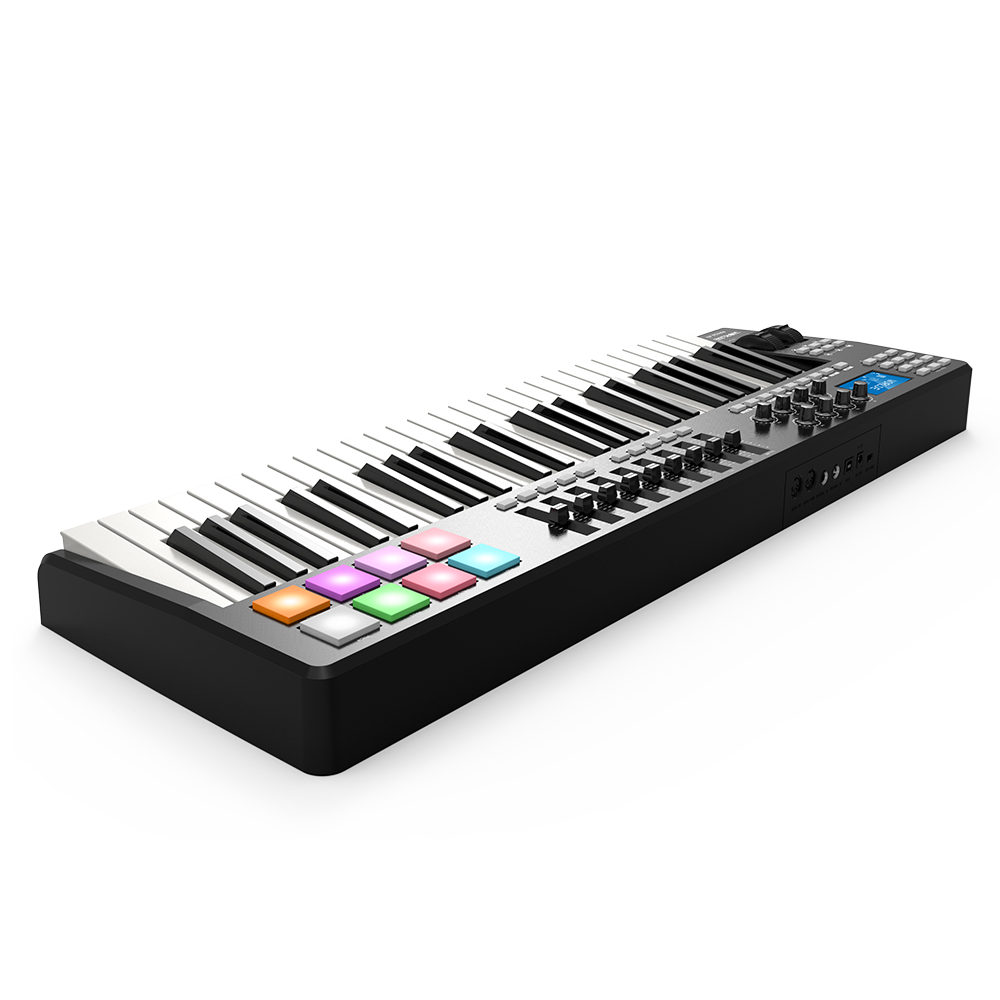 WORLDE PANDA49 Portable 49 Key USB MIDI Keyboard Controller 8 RGB Colorful Backlit Trigger Pads with