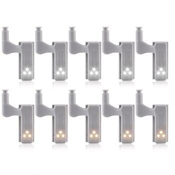 Universal Motion Sensor LED Light Set of 10 Pcs for Under Cabinet and Inner Hinge