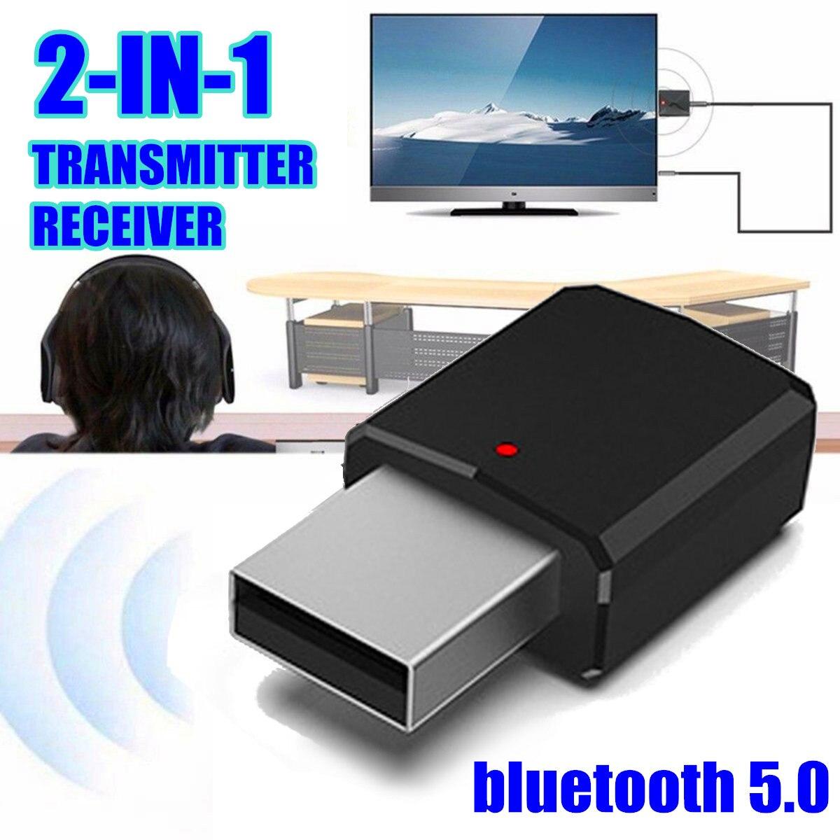 2в1 bluetooth 5,0 аудио приемник передатчик беспроводной адаптер Мини 3,5 мм AUX Стерео Bluetooth передатчик для телевизора ПК автомобильный динамик