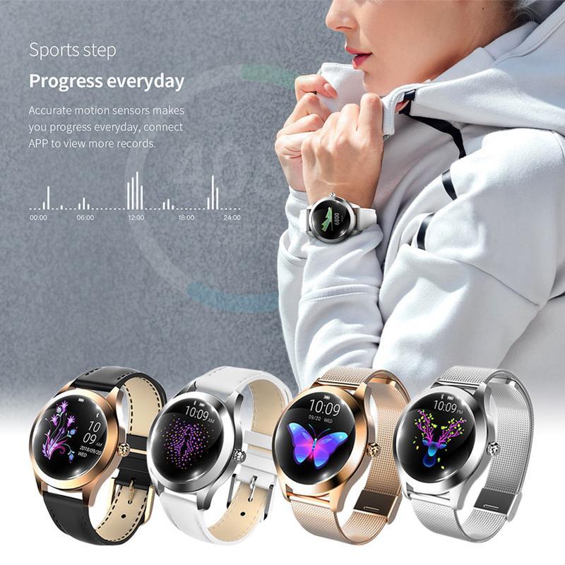 KW10 bracelet connecté bracelet en acier montre bracelet Multi-Sport Mode montre connectée de Femmes Smartwatch