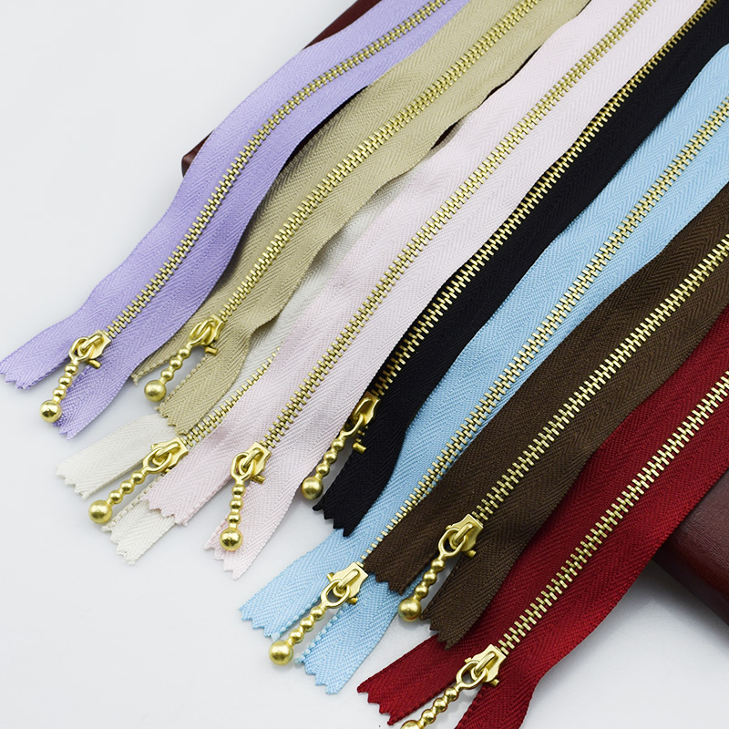 10PCS Meetee 3# Golden Zipper 20cm Colored Metal for  Sewing Tools Garment Accessories A4-16