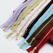 10PCS Meetee 3# Golden Zipper 20cm Colored Metal for  Sewing Tools Garment Accessories A4-16
