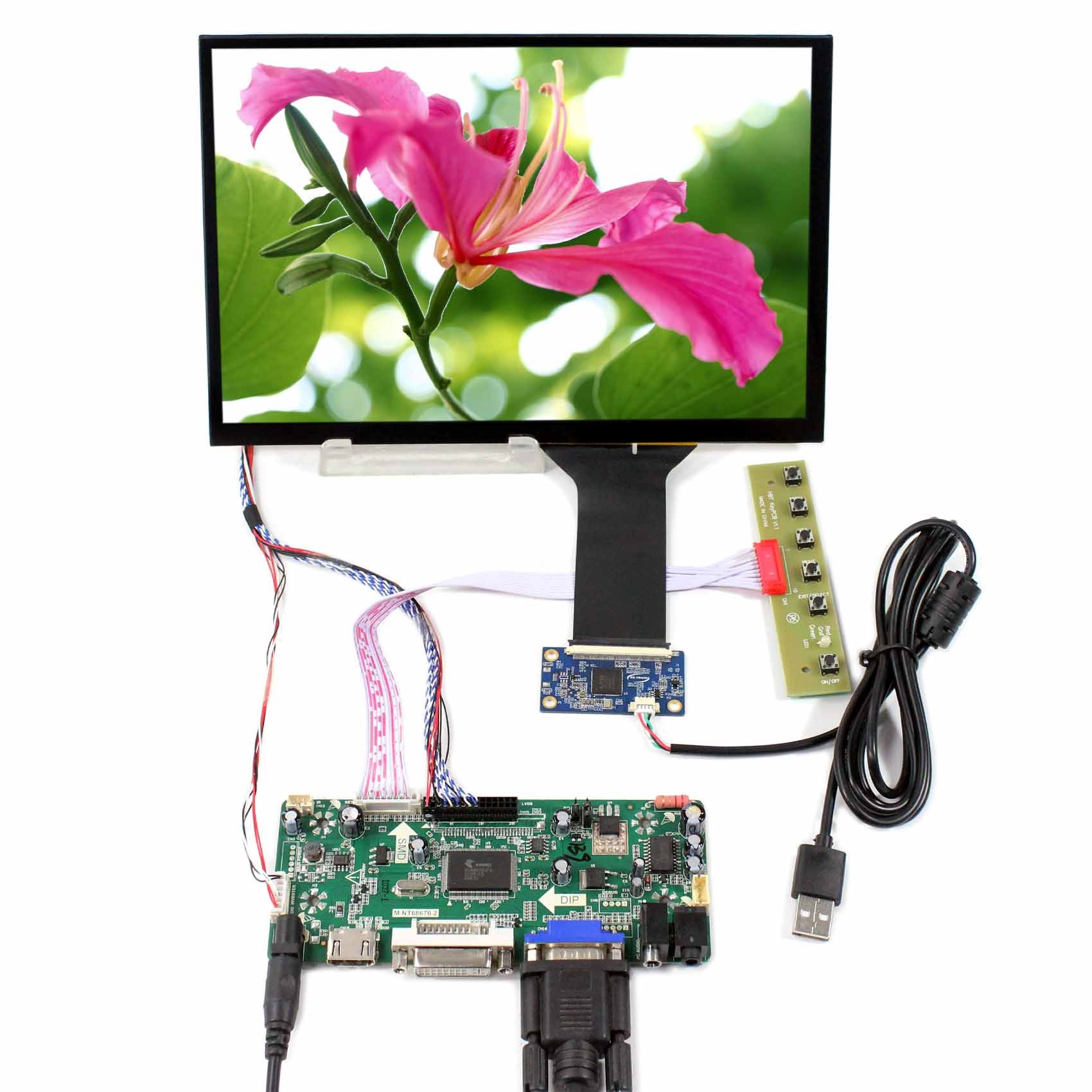 HDMI VGA DVI LCD Controller Board work with 10.1inch 1280x800 LCD  M101NWWB With Capacitive Touch screen   HDMI VGA DVI LCD Controller Board work with 10.1inch 1280x800 LCD  M101NWWB With Capacitive Touch screen