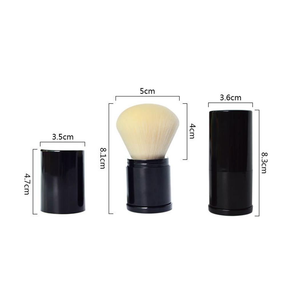 1PCS Portable Mini Retractable Makeup Brush Portable Face Powder Contour Foundation Blush Brush Professional Soft Make up Brushe in Eye Shadow Applicator from Beauty Health