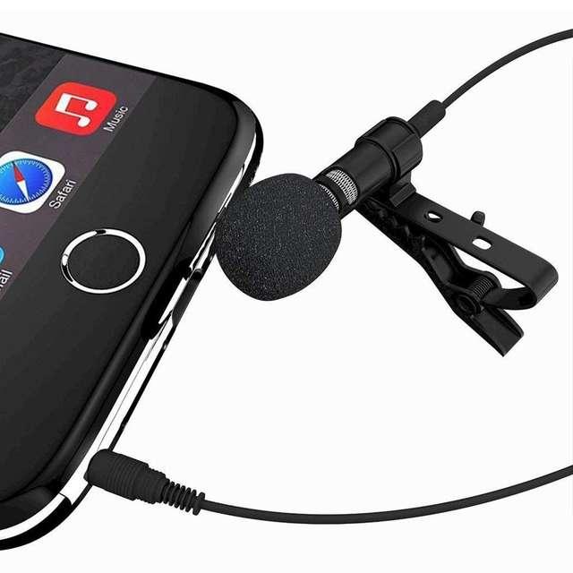 Black Wireless Lavalier Microphone