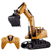 Remote Control Car Engineering Shovelloader Excavator 5 Channels Charging RC Excavator Electronic Toy Model(China)