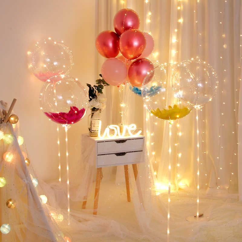Amawill 1 шт. 18/24 светодио дный дюймов световой светодиодный Воздушные шары прозрачный баллоны с гелием день рождения поставки Свадебные валентинки День, декор 75D