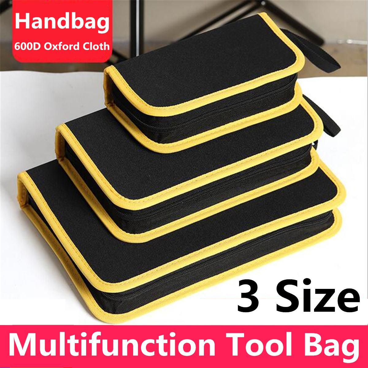 S/M/L Multi-Pockets Roll Up Tool Bag Storage Bags Spanner Plier Wrench Organizer Hardware DIY Tools Accessory