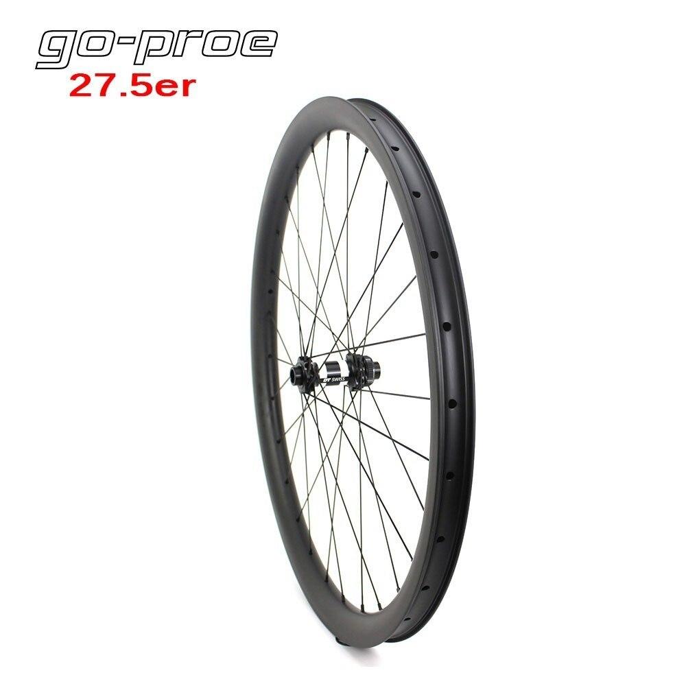 Go proe DT Swiss 350 Series 27.5er/650B MTB Wheelset Carbon Wheels Rim Tubeless For Cross Country Or All Mountain Bike Wheel