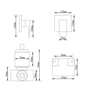 Image 5 - Sowll bateria natryskowa zawór prysznic kran mosiądz łazienka zawór ciepłej zimnej kąpieli zawór ścienny wody z kranu torneira chuveiro