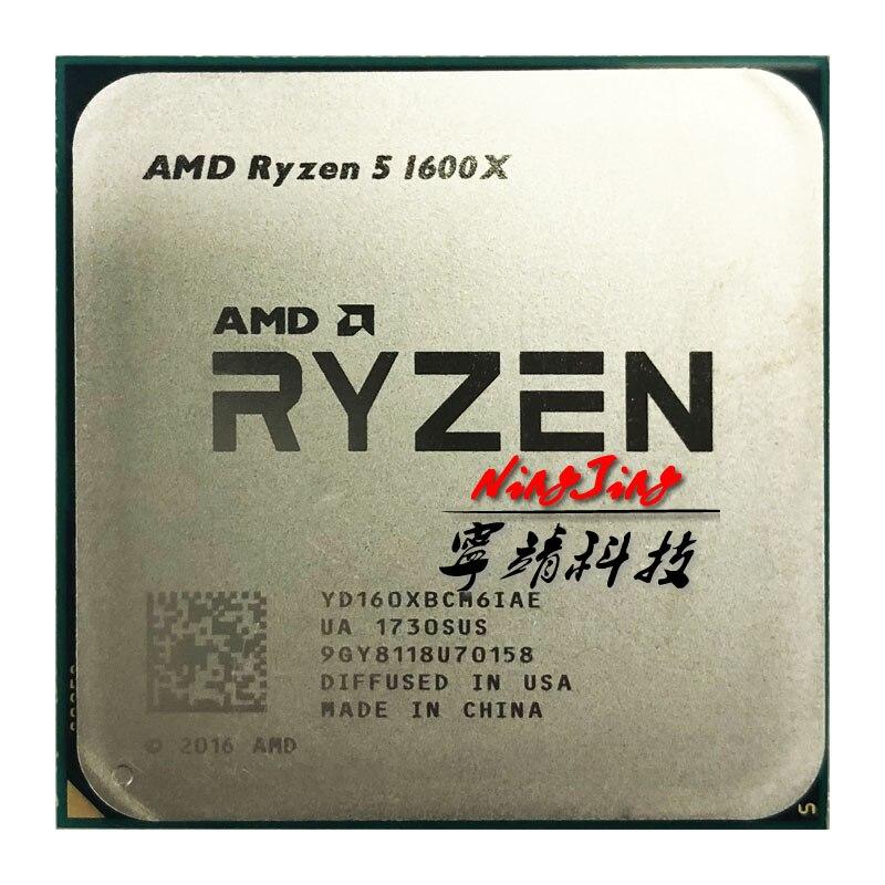 AMD Ryzen 5 1600X R5 1600X 3 6 GHz Six Core Twelve Thread CPU Processor 95W