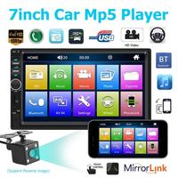 2 Din 7018B Car Radio 7 Inch Dash Audio MP5 Player Bluetooth 1080P Car Rear View Mirrorlink Steering Wheel Controls U disk USB