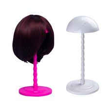 New Star Folding Stable Durable Wig Hair Hat Cap Holder Stand Holder Display Tool 3 Colors Pink/Black/White 12pcs/lot(China)