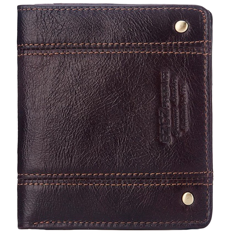 Gzcz Men Wallets Purse Card-Holder Rfid Slimline Design Mini Genuine-Leather Fashion
