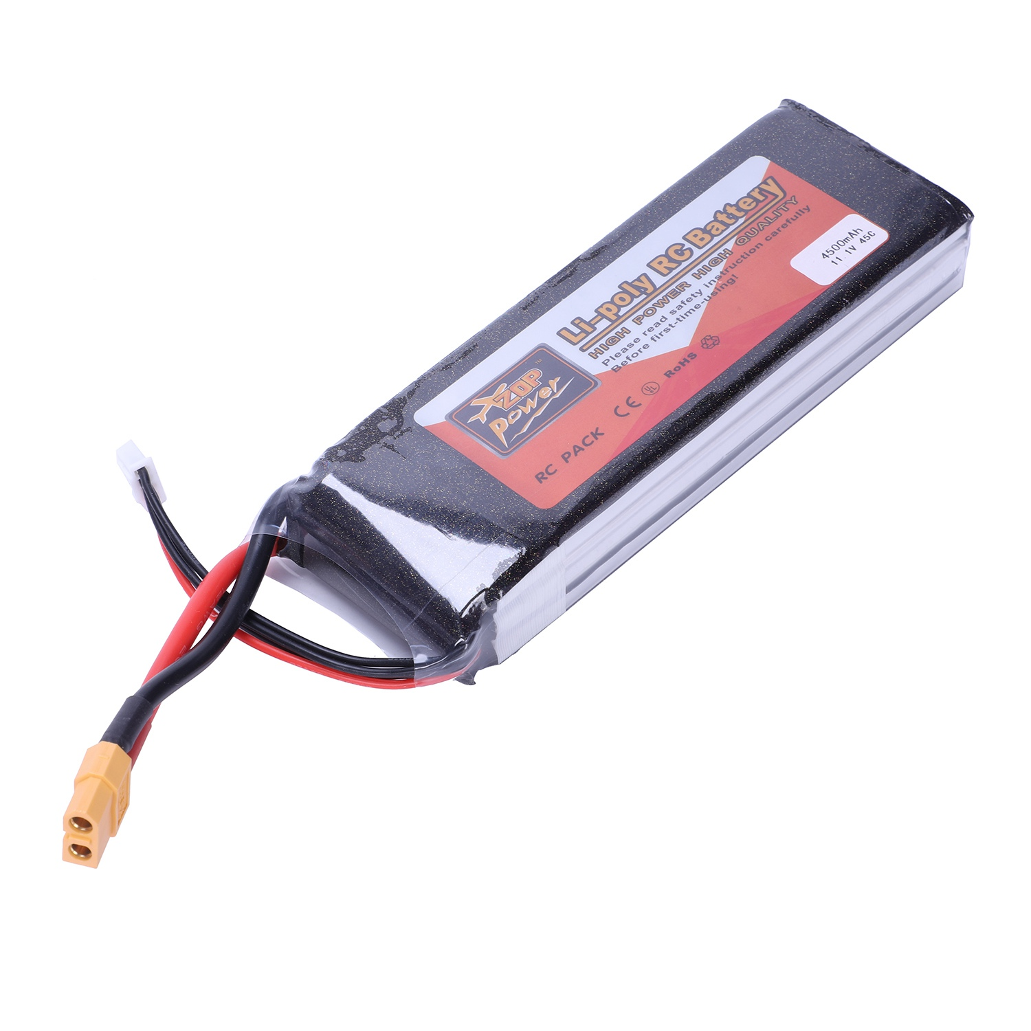 ZOP POWER 11.1V 4500mah 3S 45C Lipo Battery XT60 Plug For Rc Car Rc Helicopter