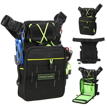 Outdoor Multifunctioanl Fishing Bag Breathable Chest Pack Thigh Bag Fishing Tackle Bag with Utility Lures Case Box Pesca Tackle