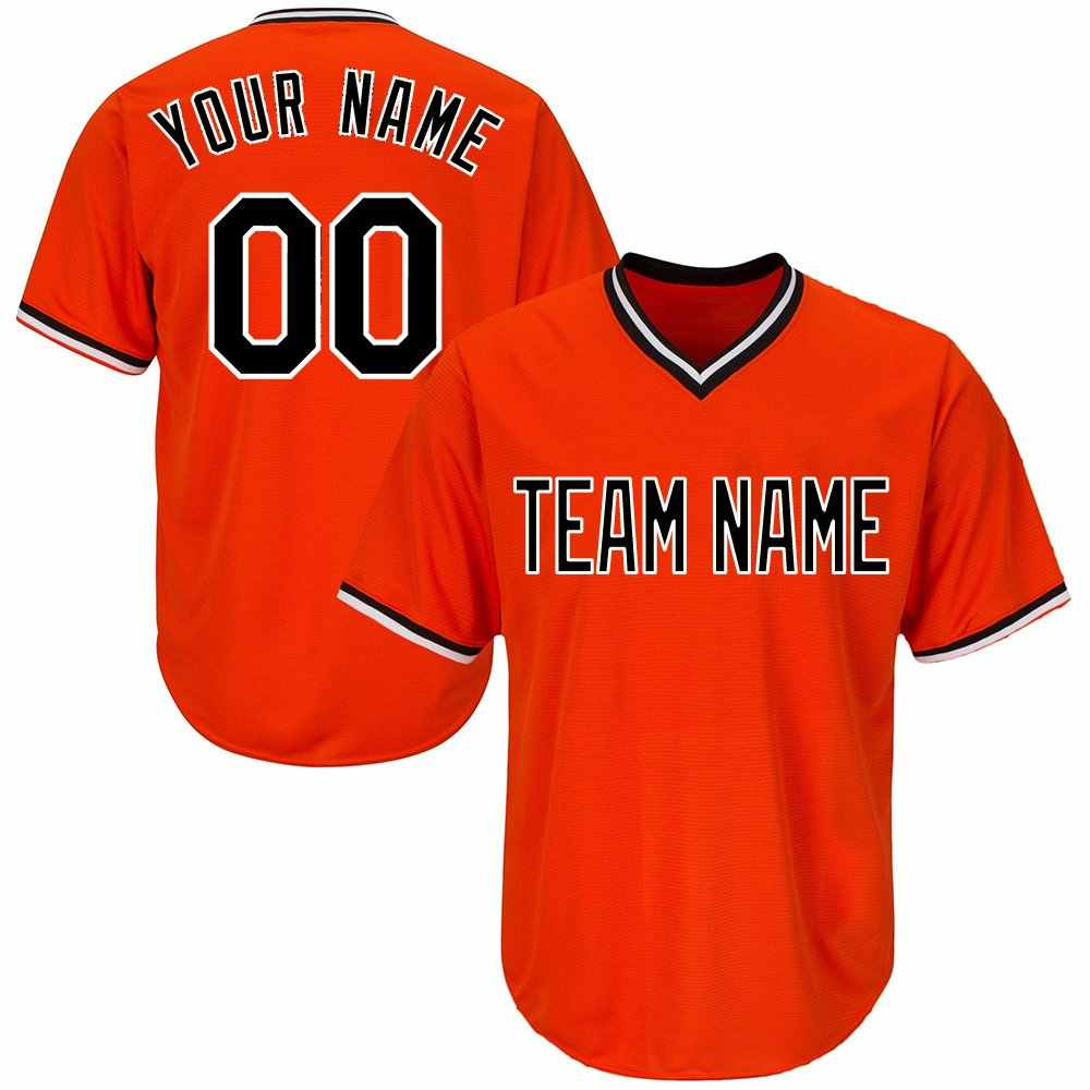 10b9220c9f3 Custom V-Neck Replica Stripe Baseball Jersey with Embroidered Any Team Logo  Name Number DIY